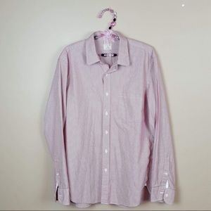 J. Crew striped mens casual button down size large